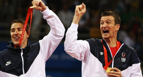 2008 Olympic Gold Medalist Tom Hoff and Riley Salmon